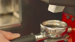 Grinder the coffee 4k Close Up Stock Footage