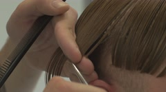 Barber shears scissors. Super close up 4k uhd Stock Footage