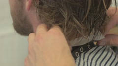 Preparing for the haircut. A Barber Start haircut. Barbershop 4k UHD Stock Footage