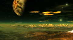 Flying over an alien planet Stock Footage