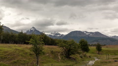 Time-lapse of a mountain range in Ushuaia, Argentina Stock Footage