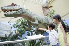 Stock Photo of Children in museum of natural history