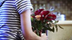 Stock Video Footage of Create decorative bouquet