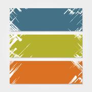 Grunge banner template. Vector illustration - stock illustration