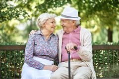 Affectionate seniors Stock Photos