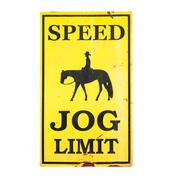 Speed JOG limit sign with clipping path Stock Photos
