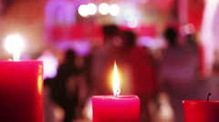 Candles wedding dance Stock Footage