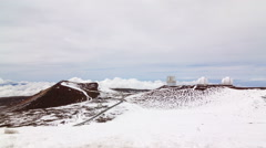 A time-lapse on top of snowy Mauna Kea, Hawaii Stock Footage