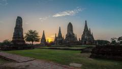 Old pagoda in Phra Nakhon Si Ayutthaya province,Thailand. Stock Footage