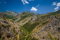 Montenegro mountain landscape near Bar town - stock photo