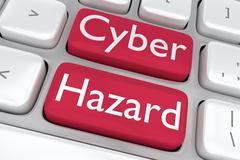 Cyber Hazard concept Stock Illustration
