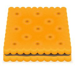 crispy biscuit cookie vector illustration - stock illustration