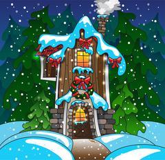 Stock Illustration of Fabulous home. Winter. Vector eps10
