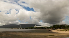 A cloudy time-lapse on a beach in Cairns, Australia - stock footage
