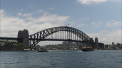 A time-lapse of the Sydney Harbor Bridge, Australia Stock Footage
