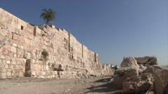 Wall in Amman city Jordan Stock Footage