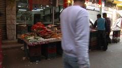 Market in Amman city Jordan - stock footage