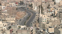 Road in Amman city Jordan Stock Footage