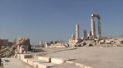 Ruins of Amman city Jordan Stock Footage