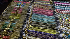 Thai souvenirs sells on market in BKK city Stock Footage