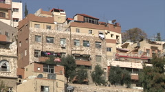 Houses in Amman city Jordan Stock Footage