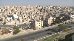 View over the city of Amman Stock Footage