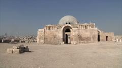 Outside Citadel Amman city - stock footage