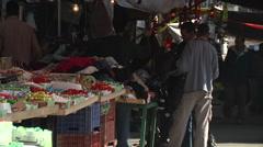 People on market in Amman city Jordan Stock Footage