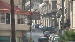 Restaurant and traffic in Amman city - stock footage