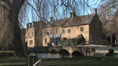 Cotswolds England traditional english scene place for holidays - stock footage
