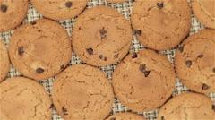 Rotating cookies on napkin - stock footage