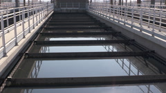 Waste Water treatment Facility Stock Footage