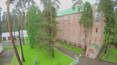 Edifice of rest house Malahovka among forest at summer Stock Footage