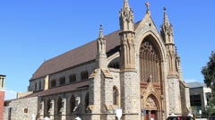 Church in inner city Perth Stock Footage
