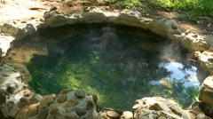 Stock Video Footage of Hot spring Mae Kasa. The hot springs is large for the tourists interested