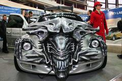 Car tuned style the movie Aliens in Motor Show. Stock Photos