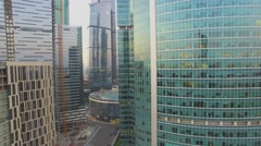 Moscow International Business Center on quay of Moskva river Stock Footage