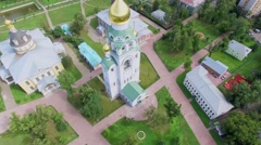 Territory of historical and architectural complex Rogozhskaya Sloboda Stock Footage