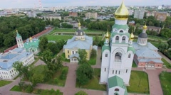 Townscape with architectural complex Rogozhskaya Sloboda Stock Footage