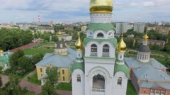 Bell tower in architectural complex Rogozhskaya Sloboda Stock Footage