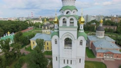 Churches and bell tower in historical and architectural complex Stock Footage