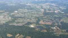 Ariel View of City Stock Footage
