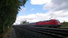 German train passing by Stock Footage