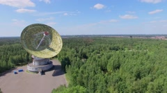Radio telescope RT-64 Bear Lakes with antenna TNA 1500 - stock footage