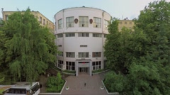Edifice of Chemical-Technologycal University named by D.I. Mendeleev Stock Footage