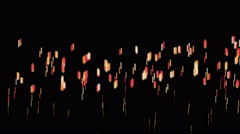 4k Particle firework flame fire campfire background,mosquitoes,flies dots dance Stock Footage