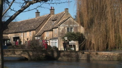 Cotswolds buildings in England vacation area traditional village - stock footage