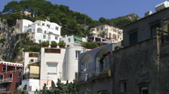 Capri buildings on a hill Stock Footage