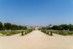 Belvedere Palace In Vienna - stock photo