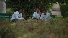 Three  Arabic Looking People Talking - stock footage